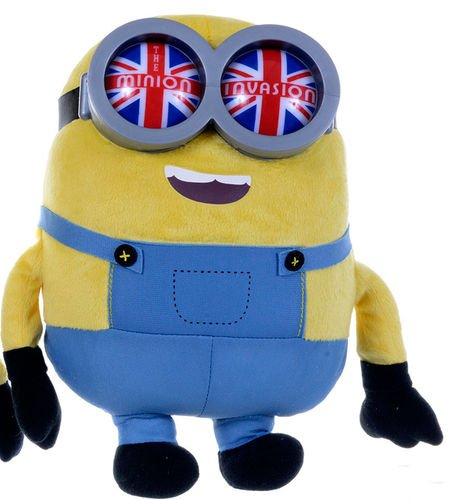 Minion Bob with Union Jack Goggles Plush - Despicable Me - 25cm 10""