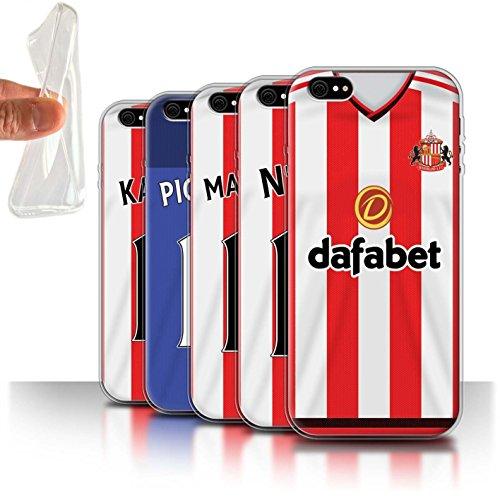 Offiziell Sunderland AFC Hülle / Gel TPU Case für Apple iPhone 6S+/Plus / Khazri Muster / SAFC Trikot Home 15/16 Kollektion Pack 24pcs
