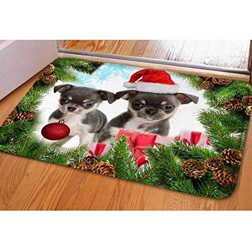 as Doormat, Modern 3D Cute Doggy Soft Flannel Door Mat Kitchen Bathroon Entry Rugs Carpet ()