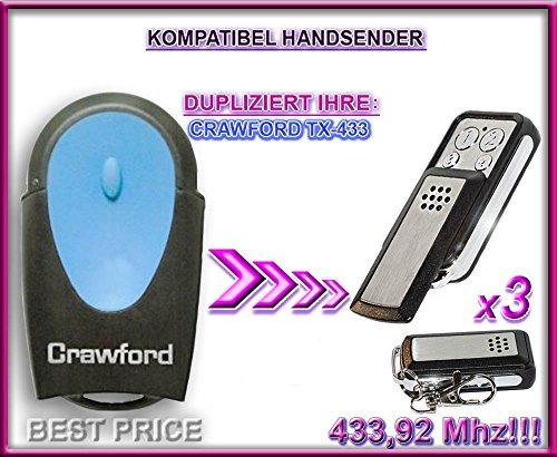 CRAWFORD kompatibel handsender / KLONE TR-449