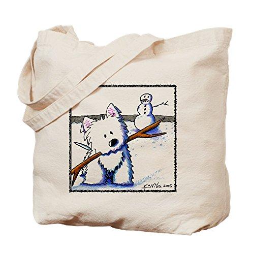 CafePress–Westie chrom Bandit–Leinwand Natur Tasche, Reinigungstuch Einkaufstasche Tote S khaki (Leinwand Bandit)
