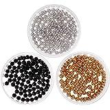 BMC Gorgeous Mixed Color ese Style 3D Nail Art Polish Round Pearls Bundle