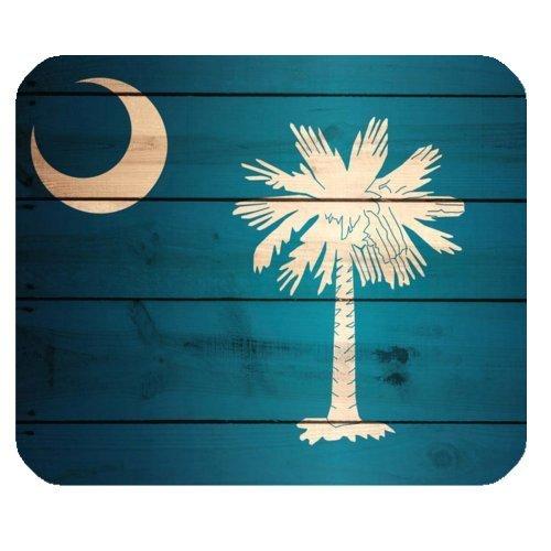 mfsore Mauspads Hülle WECE South Carolina State Fahnen-Holz-Muster-Rechteck-rutschfeste Gummimousepad-Spiel-Mausunterlage Matte -