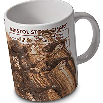 verytea Bristol Stool Chart - Dirty Edition - Mug Cup - Ideal for nurses and medical students by verytea