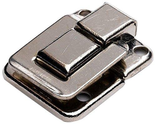 Bulk Hardware BH02803 Chiusura per Valigie e Bauli, Finitura Anodizzata Nichel, Bianco, 39 x 29 mm Set di 2 Pezzi