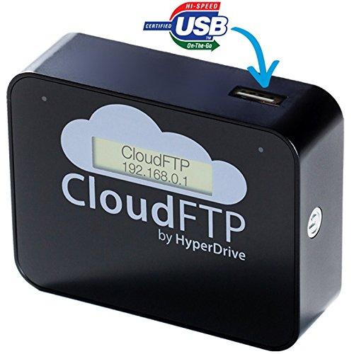 festplatte mit bluetooth HyperDrive CloudFTP BLACK / SCHWARZ USB-Host + WiFi-Cloud-Adapter. Macht ALLE USB-Daten WLAN-fähig. Streamt USB-Daten direkt an WiFi-Geräte wie iPad, iPhone, Tablet, Smartphone etc.