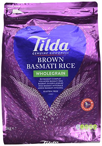 Tilda Wholegrain Basmati Rice 5kg, 1er Pack (1x5kg)