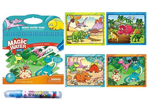 1 Pcs Malbücher, KENROLL Wiederverwendbare Magic Water Book Zeichnung Pad mit nachfüllbarem Wasser Pen für Kinder Kleinkinder Malerei - Magie Mitarbeiter