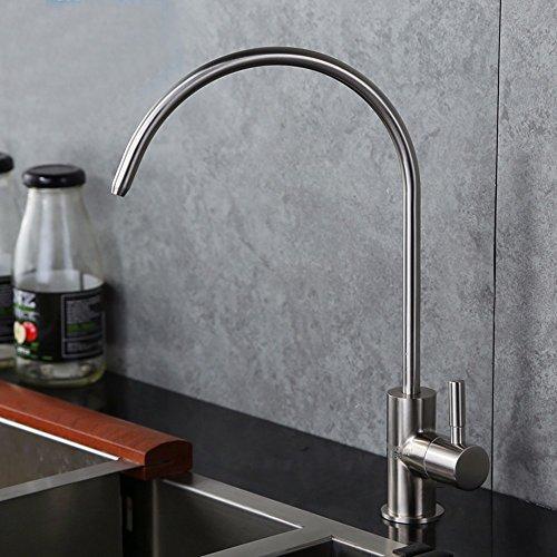 Küchenarmatur Wasserhahn Küche Mit Herausziehbarer Dual-Spülbrause Kaltes Heißes 304 Edelstahl-Küchenarmatur Direkter Trinkwasserreiniger-Wasserhahn Wasserreiniger Reiner Wasserhahn Bleifrei C -
