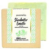 puremetics Zero Waste straffende Dusch-Seife'Sheabutter Limette' | 100% natürlich, vegan &...