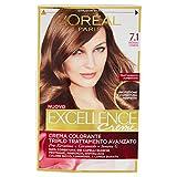 L'Oréal Paris Excellence Crema Colorante Triplo Trattamento Avanzato, 7.1 Biondo Cenere