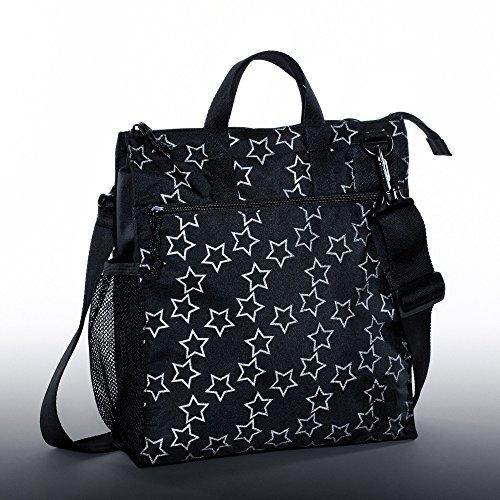Lässig Casual Buggy Bag Organizer Kinderwagenorganizer/-tasche inkl. Stroller Hooks, Reflective Star, schwarz - 3