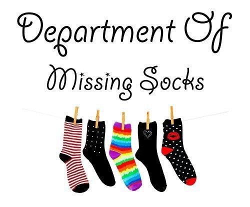 Full Farbe Department of Missing Socken Wand Aufkleber Aufkleber Zitat Waschküche Waschen, Regular