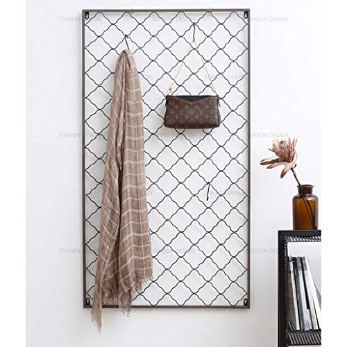 DWW Nordic Simple Moda de Hierro Forjado Perchero Creativo salón Pared casa Percha casa Colgante de Pared Rejilla Percha (Color : Large Size 68cm*122cm (Send 10 Hooks))