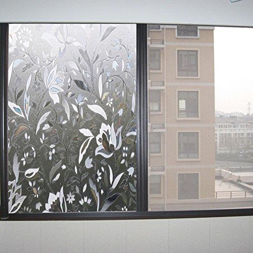 milchglas-selbstklebend-sticker-deko-film-fenster-vinyl-fenster-film-sichtschutz-blumenmuster-statis