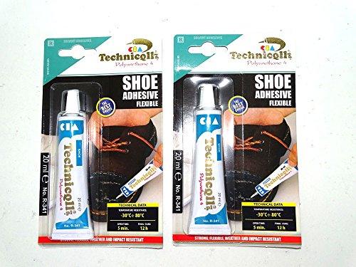 Starke Klebstoff für Schuhe Leder Gummi Filz Nylon-Fabrics 20ml NEW