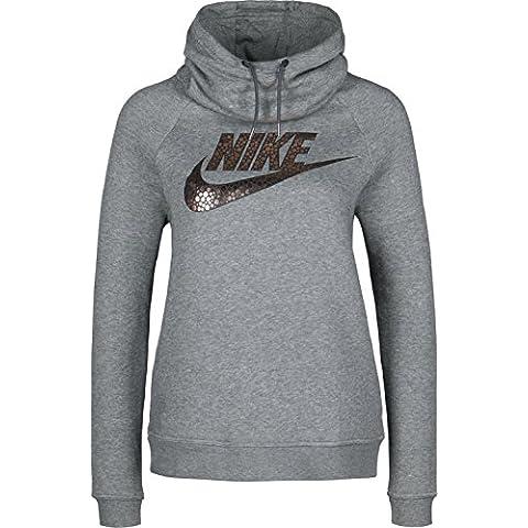 Nike W Nsw Rly Fnl Gx1 - Sudadera para mujer, color negro, talla M