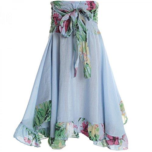 BEZLIT Mädchen Kinder Spitze Kleid Peticoat Fest Sommer-Kleid Kostüm 20424 Blau Größe 140