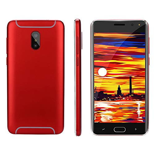 Oasics Smartphone, Neue Art und Weise 5,0 Zoll Doppel-HDCamera Smartphone Android IPS-GANZER Bildschirm GSM/WCDMA 4GB Touch Screen WiFi Bluetooth GPS 3G Anruf-Handy (rot)