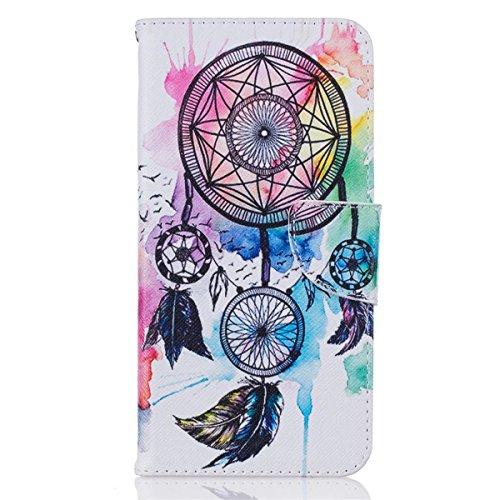 iPhone 7 Plus Coque, Apple iPhone 7 Plus Coque, Lifeturt [ Fleurs roses ] Motif Pure Couleur Housse en Cuir Case à Avec La Fonction Stand Coque de Intérieure Protection Souple Coque Portefeuille TPU S E2-Color Dreams