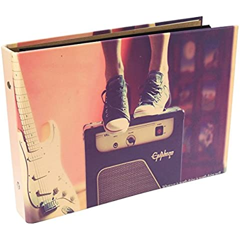 [Fujifilm Instax Mini Foto Album] - CAIUL 50 Pagine DIY Album per Mini 8 70 7s 25 50s 90/ Pringo 231/ Instax SP-1/ Polaroid PIC-300P/ Polaroid Z2300 Film (Musica) - Snap Pagina Protezioni