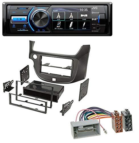61DBT Bluetooth MP3 USB DAB Autoradio für für Honda Jazz (ab 2009) dunkelgrau ()
