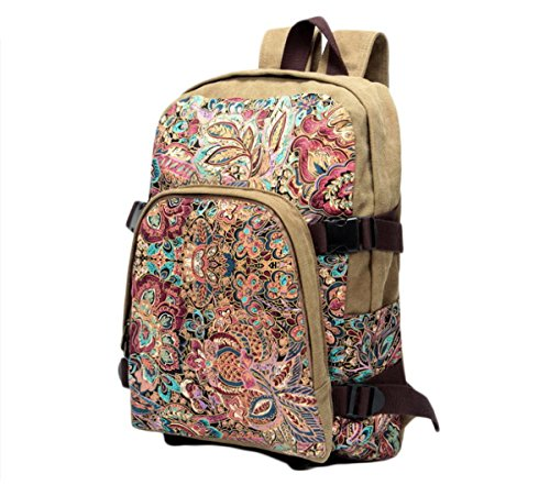 Donna e ragazza in tela Casual Daypack, Zaino per scuola, borsa da viaggio, 3 (Color 3)