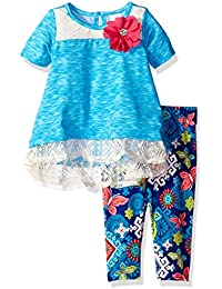Youngland Baby Girls Knit High-Low Tunic with Knit Legging