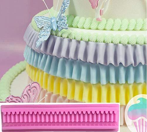 2 UNIDS Decoración de Borde de Pastel Borla Floral En Forma de Molde de  Silicona 3D Magdalena Hecha A Mano Fondant Molde DIY Molde de Chocolate