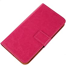 Gukas Flip PU Billetera Design Funda De Carcasa Cartera De Cuero Case Cover Piel Para ZTE Grand Memo V9815 N5 (Rosa)