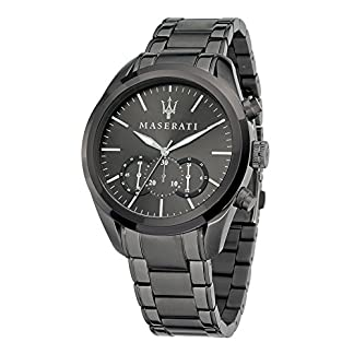 Reloj para Hombre, Colección Traguardo, Movimiento de Cuarzo, cronógrafo, en Acero y PVD Gris – R8873612002