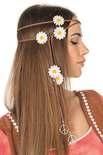 70er Jahre Hippie Stirnband Flower Power Mottoparty Outfit -