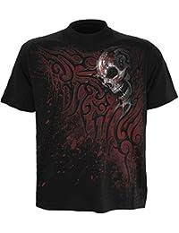 Spiral T-shirt pour homme Motif Death Blood Noir