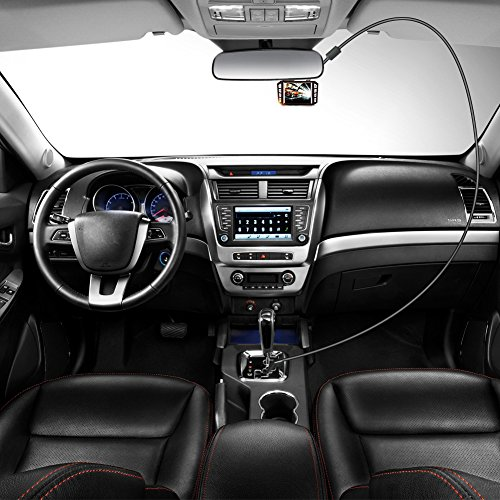 New Style Auto blockierungssicherung; Dash Cam Ladekabel mit Mini USB Interfaces Magnet Ring verlängert Netzkabel 5V 1,5A 3,5m/11,48FT (Recorder-netzkabel)