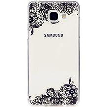 MUTOUREN Coque Pour Samsung Galaxy A3 (2016) A310FPerfect Fit Ultra mince transparente Housse de protection éléganteFlexibleCrystal Clear Housse Etui Coque-black Flower