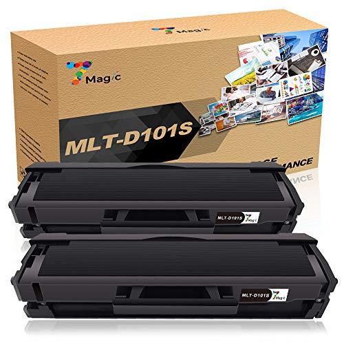 7Magic MLT-D101S/ELS 101S Toner, Compatibile Samsung Cartuccia Toner, per SCX-3405 SCX-3405fw SCX-3405f SCX-3400 ML-2165 ML-2160 ML-2161 ML-2165w(2 packs)