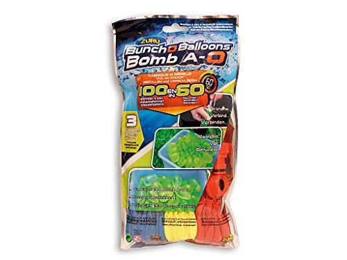 BC direkt 100 Wasserbomben schnell, BunchOBalloons Wasserbomben original, selbstschließend ohne Knoten (blau gelb rot)