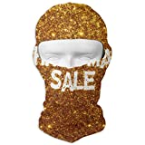 Wfispiy Neck Hood Full Face Mask Hat Sunscreen Breathable Quick Drying Glitter Wedding Men Women