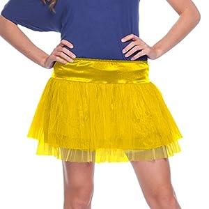 Folat 63686-Yellow Tutu Neon Disco-Mujeres