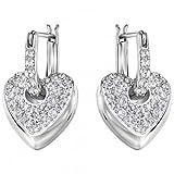 Frauen-Ohrringe Herz 5190216 Swarovski Silver