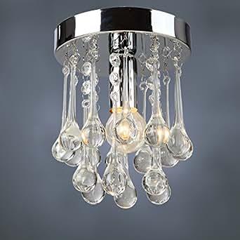 wallzkey® Lot de 3avec cristal Lustre moderne Plafond Lampe en cristal en verre pour décoration de salle à manger, etc.