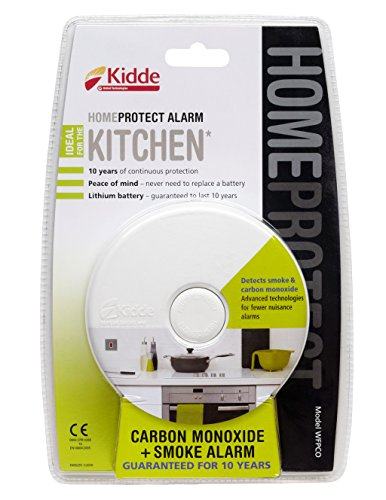 Kiddie Home Protect WFPCO Combination Smoke and Carbon Monoxide Alarm For The Kitchen, White