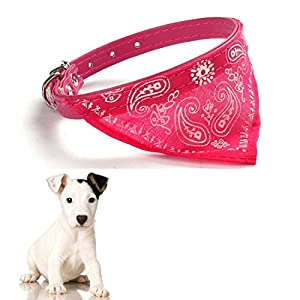 Culater® Réglables chiots Chien Chat Colliers Collier Echarpe Foulard Triangle Rose