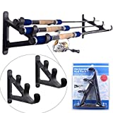 Horizontal Wall Rod Rack Rod Pod for 3 Rods