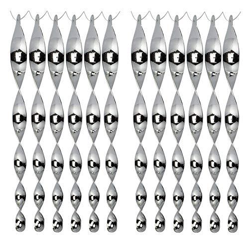 Haimist Reflektierende Vogelschreck - 12er Set Reflektierende Windspirale, Vogelschreck zur Vogelabwehr Abwehr von Vögeln Dekoration für Balkon und Garten