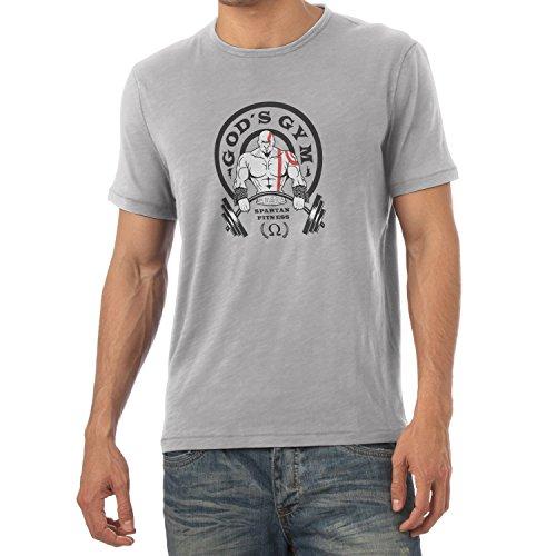 TEXLAB - God's Gym Spartan Gym - Herren T-Shirt, Größe M, grau (Kostüme War 3 God Of Kratos)