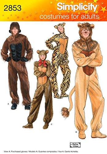 Schnittmuster Katze Kostüm - Simplicity Schnittmuster 2853Erwachsene Kostüme, Gr. XS,