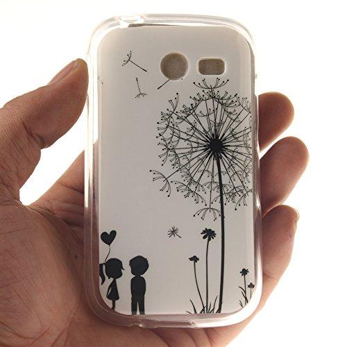 Samsung Galaxy Pocket 2 SM-G110 hülle,MCHSHOP Ultra Slim Skin Gel Schlank TPU Case Schutzhülle Silikon Silicone Schutzhülle Case Back Cover für Samsung Galaxy Pocket 2 SM-G110H - 1 Kostenlose Stylus P Löwenzahn sich verlieben