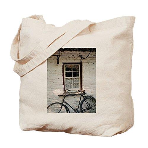 CafePress Irish Cottage Tragetasche, Canvas, Khaki, M - Fotografie Cottage