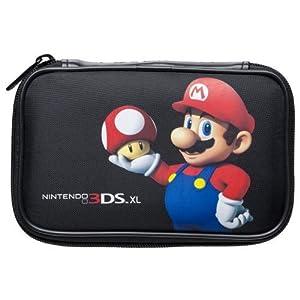 """Nintendo 3DS XL / 3DS / DSi – Tasche """"Mario Bros."""" Mario mit Pilz schwarz"""